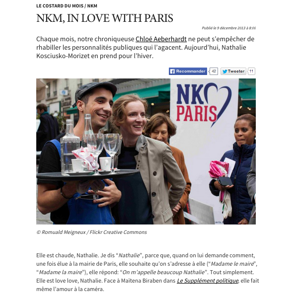 NKM, in love with Paris